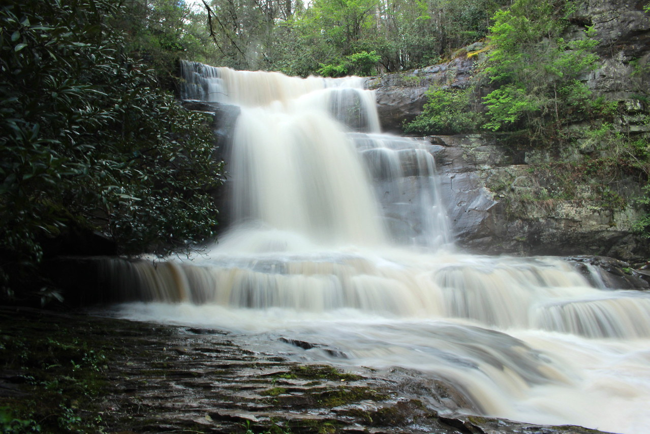 South Shoal Creek Falls with lots of water